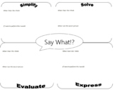 Say What?! - Algebra Vocabulary Review Sheets