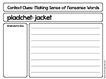 Say What: Making Sense of Nonsense Words Using Context Clues