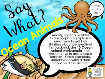 Say What? Ocean Animals - Short Story Writing and Speech Bubbles