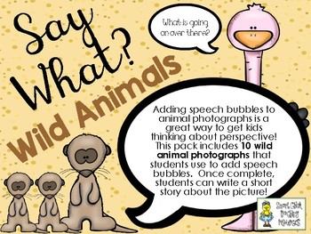 Say What? Wild Animals - Short Story Writing and Speech Bubbles