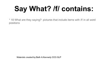 Say What?! for /f/
