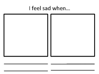 Say Why I Am Sad Worksheets or Mini Book