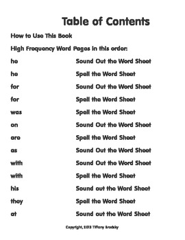 Say, Write, Cut, and Glue High Frequency Words Activity Book Set Two