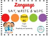 Say, Write & Wipe- Pronouns