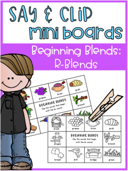 Say and Clip Mini Boards: Beginning R-Blends