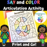 Say and Color Initial Sounds Articulation Activity for Spe
