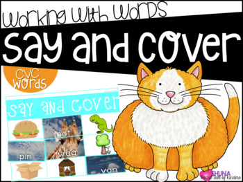 Say and Cover CVC 3 {A Working With Words Center}