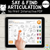 Say and Find Articulation No-Print BUNDLE