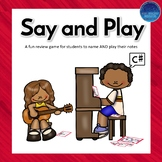 Say and Play Note Review Game