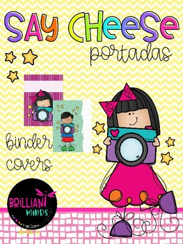 Say cheese theme binder covers / Editable presentation (PowerPoint)