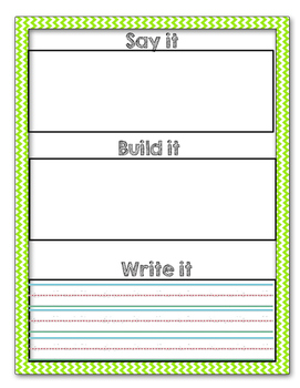 Say it, Build it, Write it (Differentiated)