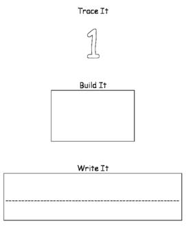 Trace it, Build it, Write it Math