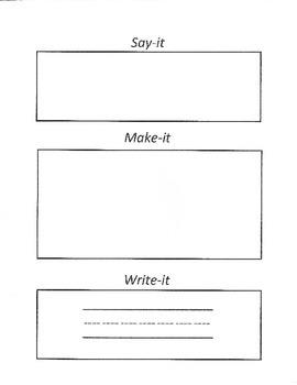 Say it- Make it- Write it
