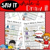Say it, Write It, Draw It! Multi-Modal Articulation Practice