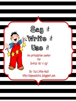 Say it, Write it, Use it: An Articulation Center for Initial /k/ and /g/