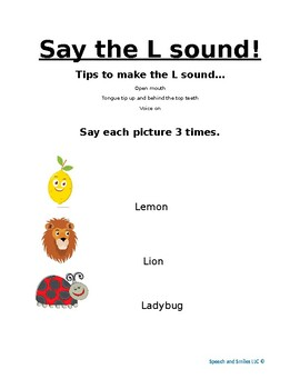 Say the L sound!