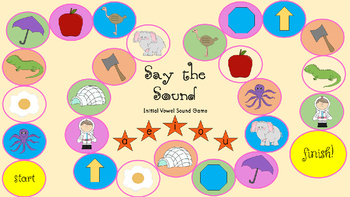 Say the Sound - Initial and Medial Vowel Sounds Game
