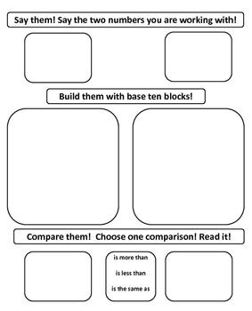Say them! Build them! Compare them! (Math Center)