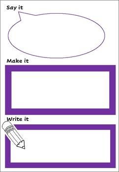SayMakeWrite worksheet