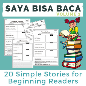 Saya Bisa Baca: Simple Stories for Beginning Readers (Vol 1)