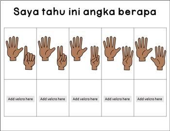 Saya tahu angka 1-10 morning work binder numbers fun activity in Indonesian