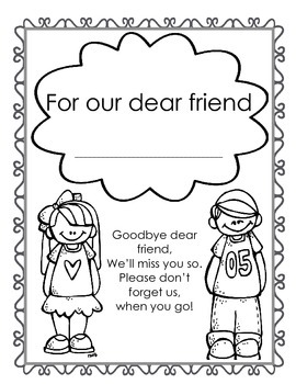 Saying Goodbye - Farewell Book