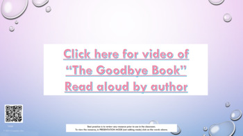 Saying Goodbye Loss Grief Deployment w 2 videos w coloring sheet parent letter