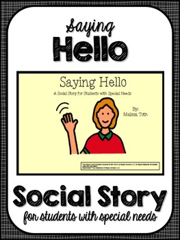Saying Hello- Social Story for Student's with Autism