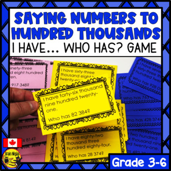 Saying Numbers: I Have... Who Has...? Game