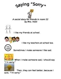 Saying Sorry - Social Story