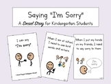 Saying Sorry Social Story for Kindergarten and Autism Students