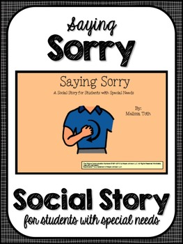 Saying Sorry- Social Story for Student's with Autism