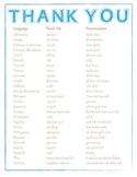 "Saying ""Thank You"" Around The World"