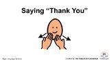 "Saying ""Thank You"" Social Story - Sign Language Version"