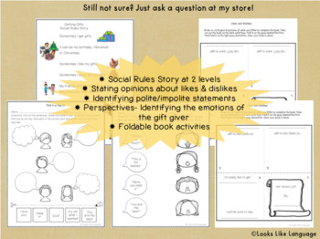 Polite Words Social Skills Activities for Special Education Saying Thank You