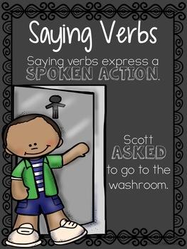 Saying Verbs