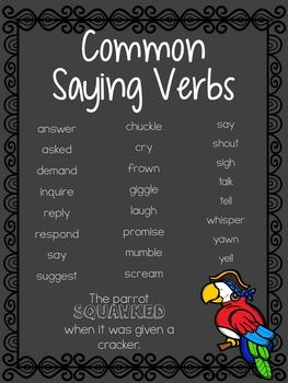 Saying Verbs