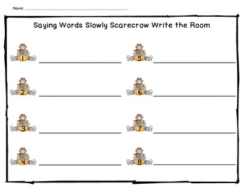 Saying Words Slowly: Scarecrow Write the Room