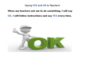 Saying Yes and OK Social Story