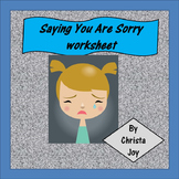 Saying You're Sorry with Actions worksheet