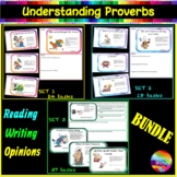 Sayings and Phrases Adages BUNDLE- 54 Proverbs Anchor Sheets Tasks Game Cards