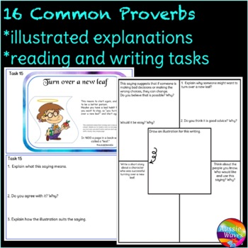 Sayings and Phrases  CC Yr2 - Proverbs Anchor Sheets, Tasks, Game Cards