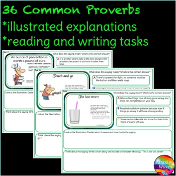 Sayings and Phrases - Printable Proverbs Anchor Sheets, Tasks, Game Cards CC Yr3