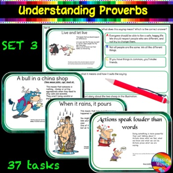 Sayings and Phrases - Proverbs Anchor Sheets, Tasks, Game