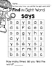Says: Sight Word Activities