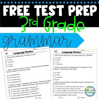 Sbac Language 3rd Grade Test Prep FREEBIE