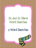 Sc and Sk Blend Word Searches!
