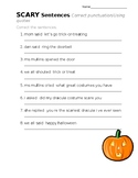 ScArY Sentences- punctuating Quotes