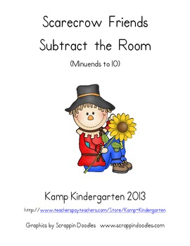 Scarecrow Friends Subtract the Room (Minuends to 10)