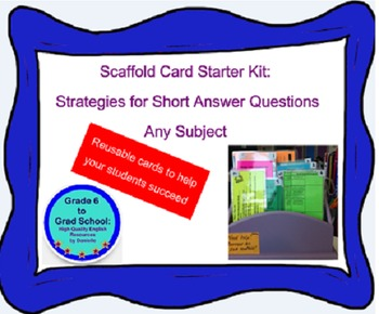Scaffold Card Starter Kit-FREE- Strategies for short answer